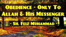 Obedience - Only To Allah & His Messenger ᴴᴰ ┇ Powerful Speech ┇ by Sheikh Feiz Muhammad ┇ TDR ┇