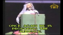 Ahmed Deedat Debate - Anis Shorrosh gets agitated about a question!
