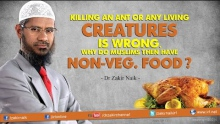Killing an ant or any living creature is wrong. Why do Muslims then have Non-Veg. food?