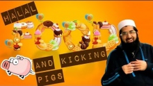 HALAL FOOD AND KICKING PIGS ᴴᴰ - FUNNY VIDEO - YOU HAVE TO WATCH THIS