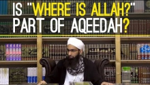 "Is ""Where is Allah?"" part of Aqeedah?"