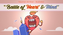 Battle of 'Heart' & 'Mind' | Nouman Ali Khan | illustrated