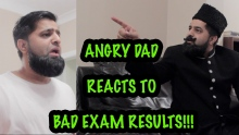 ANGRY DAD REACTS TO BAD EXAM RESULTS!!! (COMEDY SKETCH)