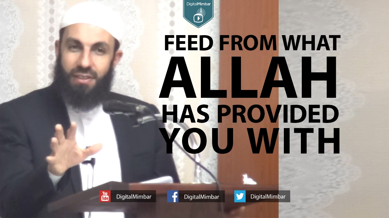Feed from what Allah has Provided you With! - Bilal Assad