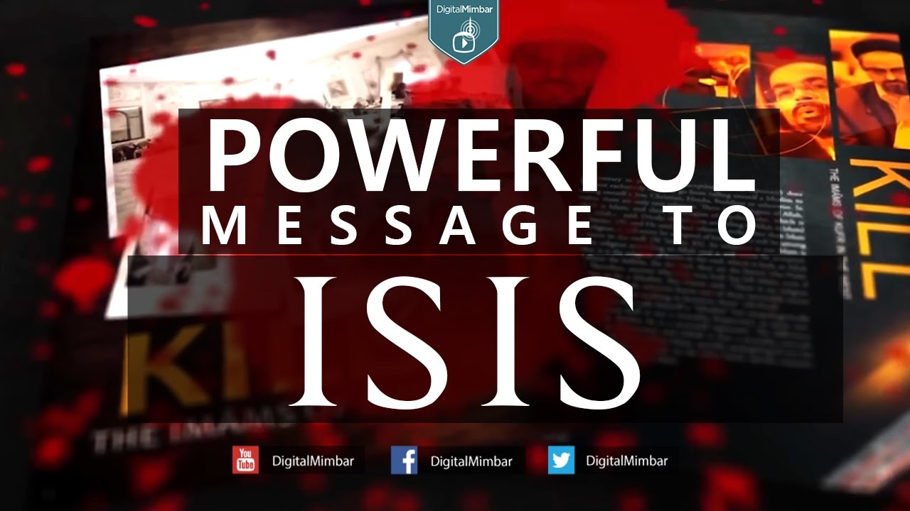Powerful Message to ISIS - Shady Alsuleiman