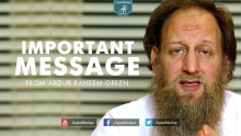 IMPORTANT Message from Abdur Raheem Green