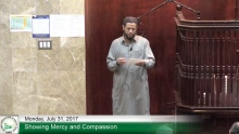 7 31 17 Hadith Lesson Showing Mercy and Compassion