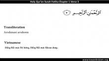 Quran 1: Surah Fatiha with Vietnamese Translation and Roman Transliteration