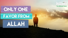 ONLY ONE FAVOR FROM ALLAH WOULD HAVE BEEN ENOUGH !!