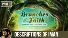 The Branches of Faith (Ramadan 2018 - Part 3): Descriptions of Iman - Shaykh Dr Yasir Qadhi