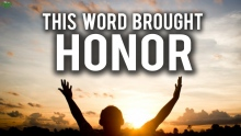 THIS WORD BROUGHT US HONOR!