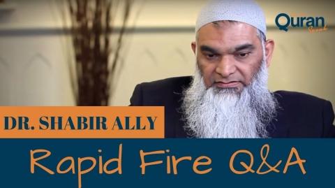 Rapid Fire Q&A with Dr. Shabir Ally